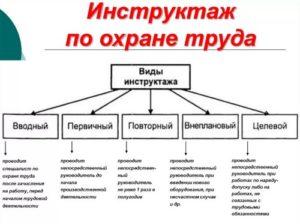 Разновидности инструктажа по охране труда
